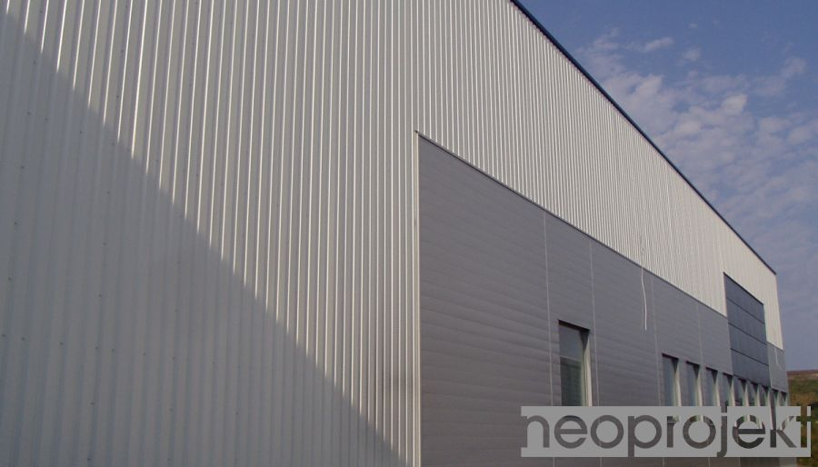 hala fabryczno-magazynowa EKAplast, Klaudyn k/Warszawy