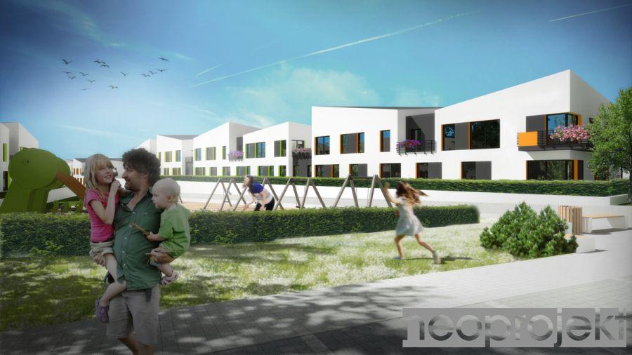 Zespół zabudowy mieszkaniowej wielorodzinnej, Łódź ul. Pomorska. Koncepcja A