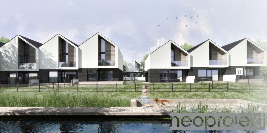 Zespół zabudowy mieszkaniowej jednorodzinnej szeregowej, Łódź, ul. Wycieczkowa/Klimatyczna